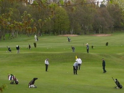 Golfers on the course at Boldmere Golf