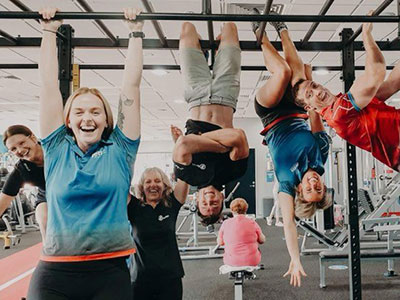 Photo of the team at Jetts Fitness gym in Ballina, New South Wales